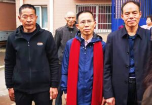 From left to right Mr. Chen Yusheng, Mr. Jia Jianghai and Mr. Zhang Jiangyu